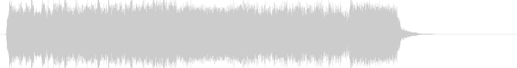エレキギターによるパワフルジングルの未再生の波形