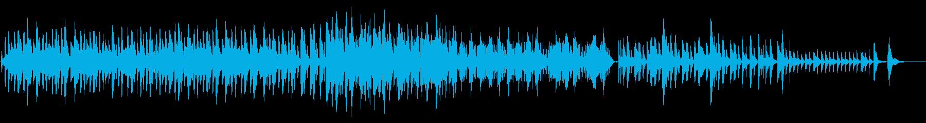 ハープの切ない曲の再生済みの波形