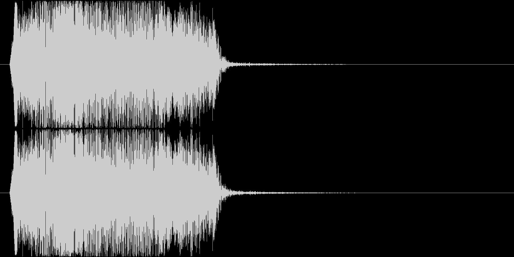 叫び声(あああああ)の未再生の波形