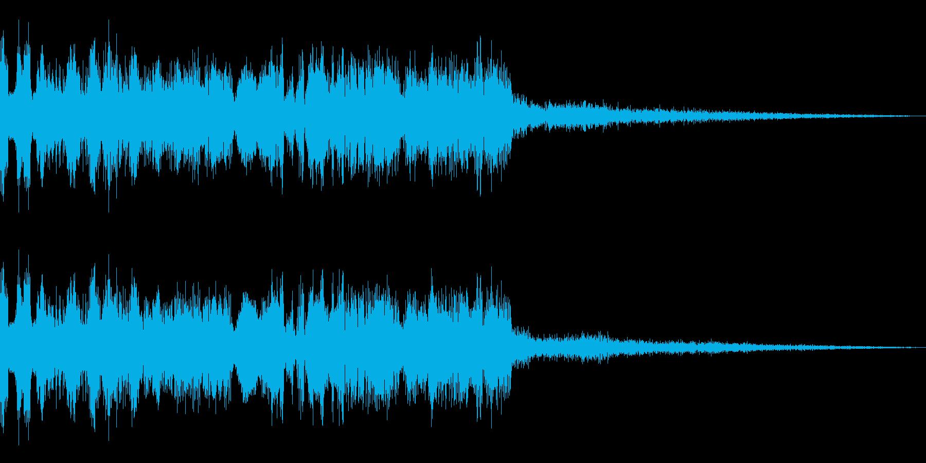 メニュー画面音(ウインドウ,決定等)12の再生済みの波形