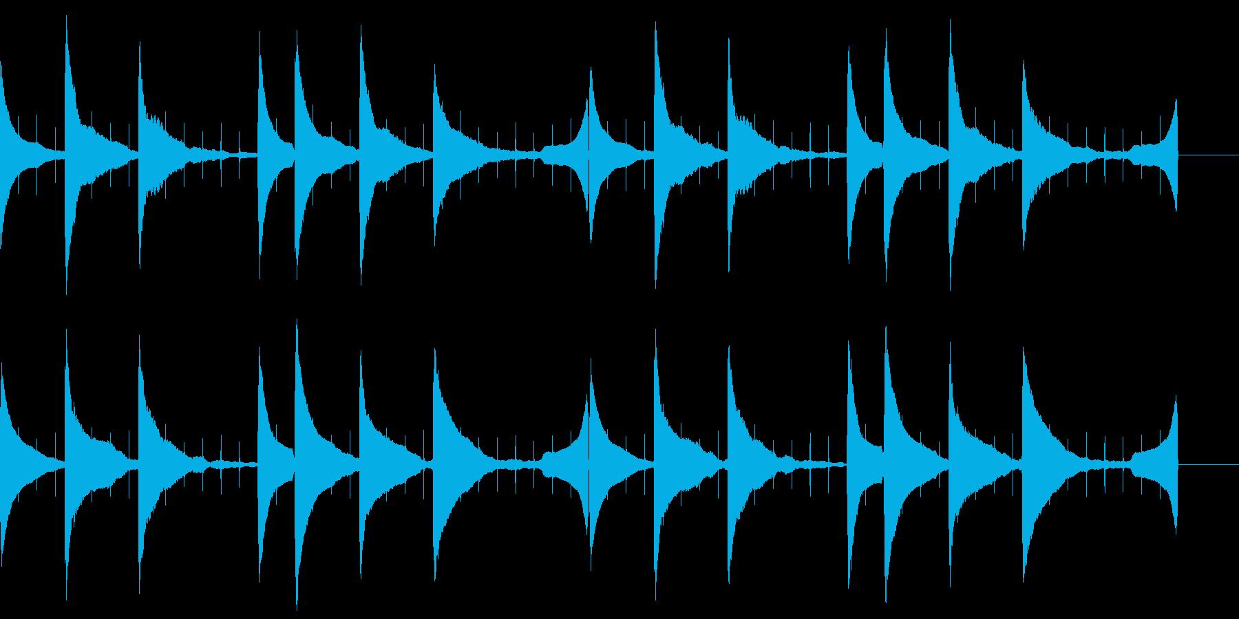 不安や緊張感を演出するピアノの再生済みの波形