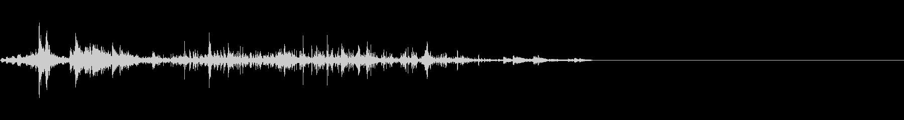 引き上げる音2の未再生の波形
