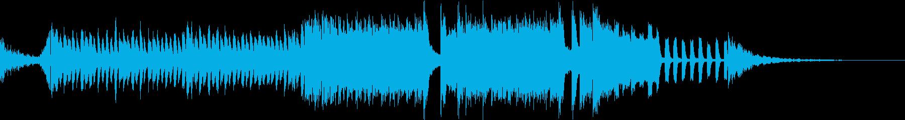 サイバーで未来感のあるパワフルなサウンドの再生済みの波形