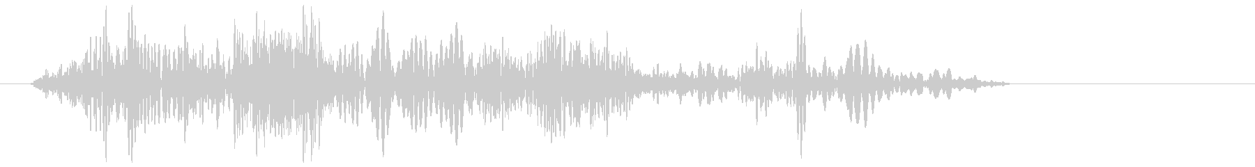 ロープが巻き取られる音の未再生の波形