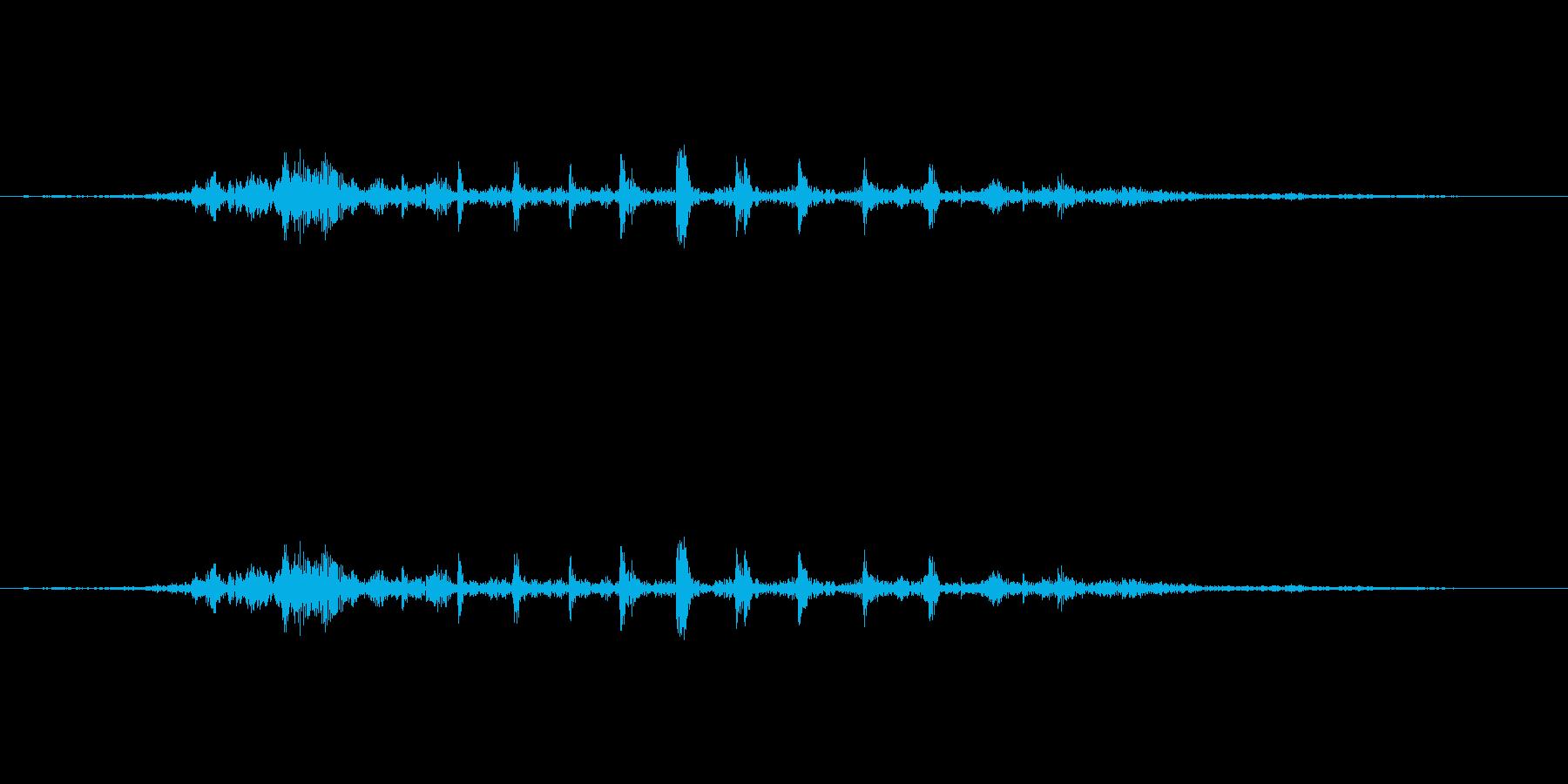 ガルルル・・・の再生済みの波形