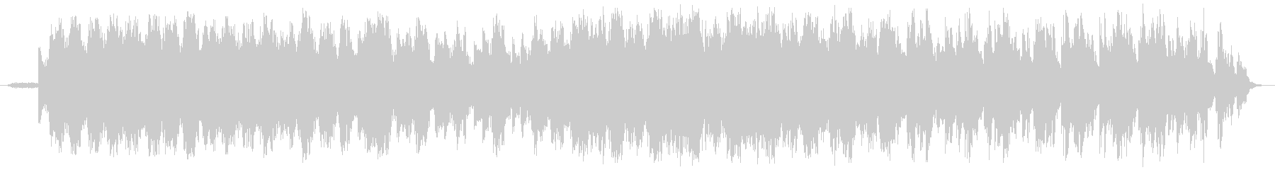 シンセサイザーの幻想的BGMの未再生の波形