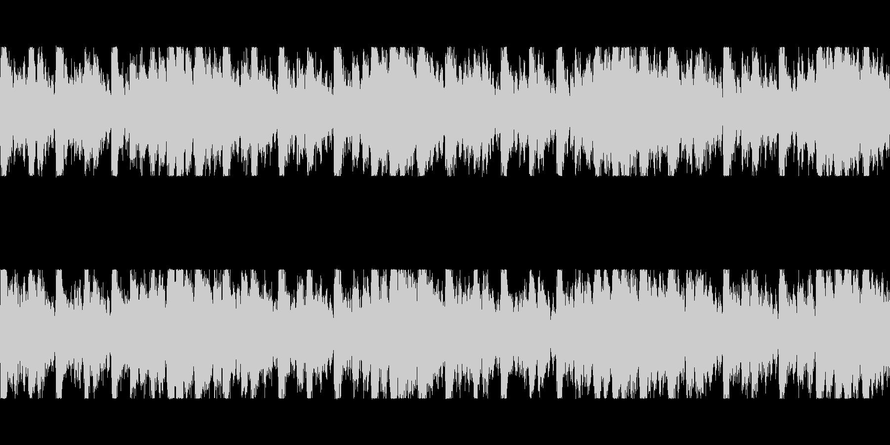 バトル・緊迫 ループBGMの未再生の波形