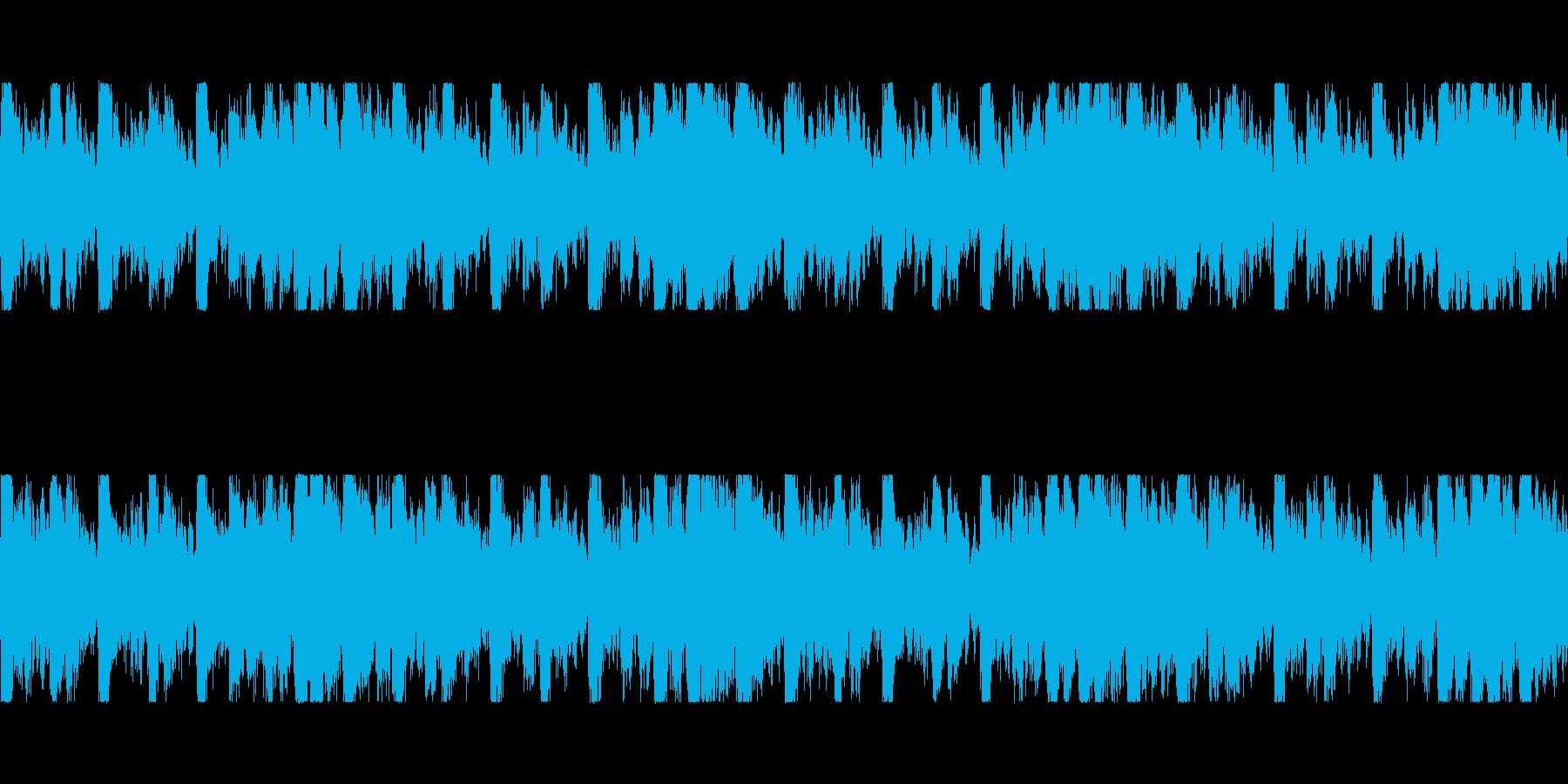 バトル・緊迫 ループBGMの再生済みの波形