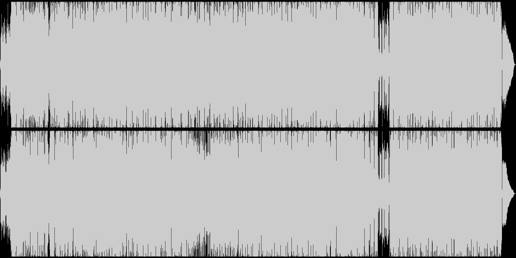 王道的なギターロックの未再生の波形