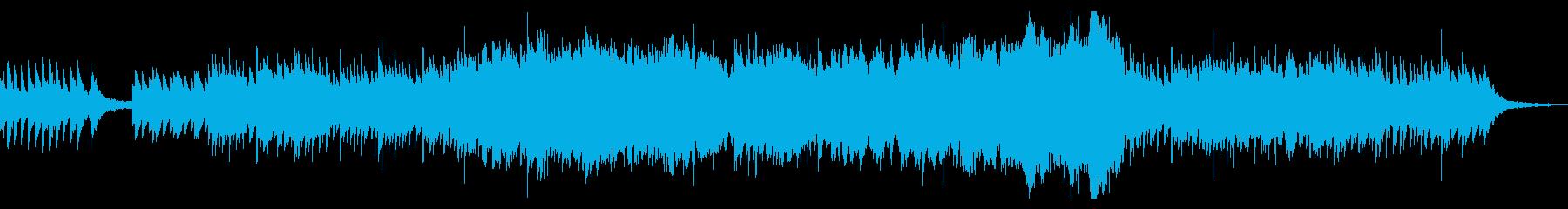 ピアノとオーケストラの感動的バラードの再生済みの波形