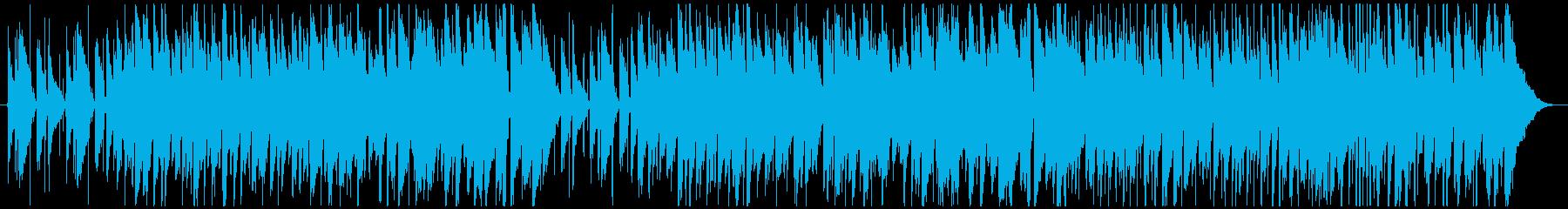 アコースティックギターほのぼの温かの再生済みの波形