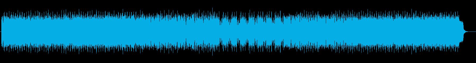 アップテンポのテクノミュージックの再生済みの波形