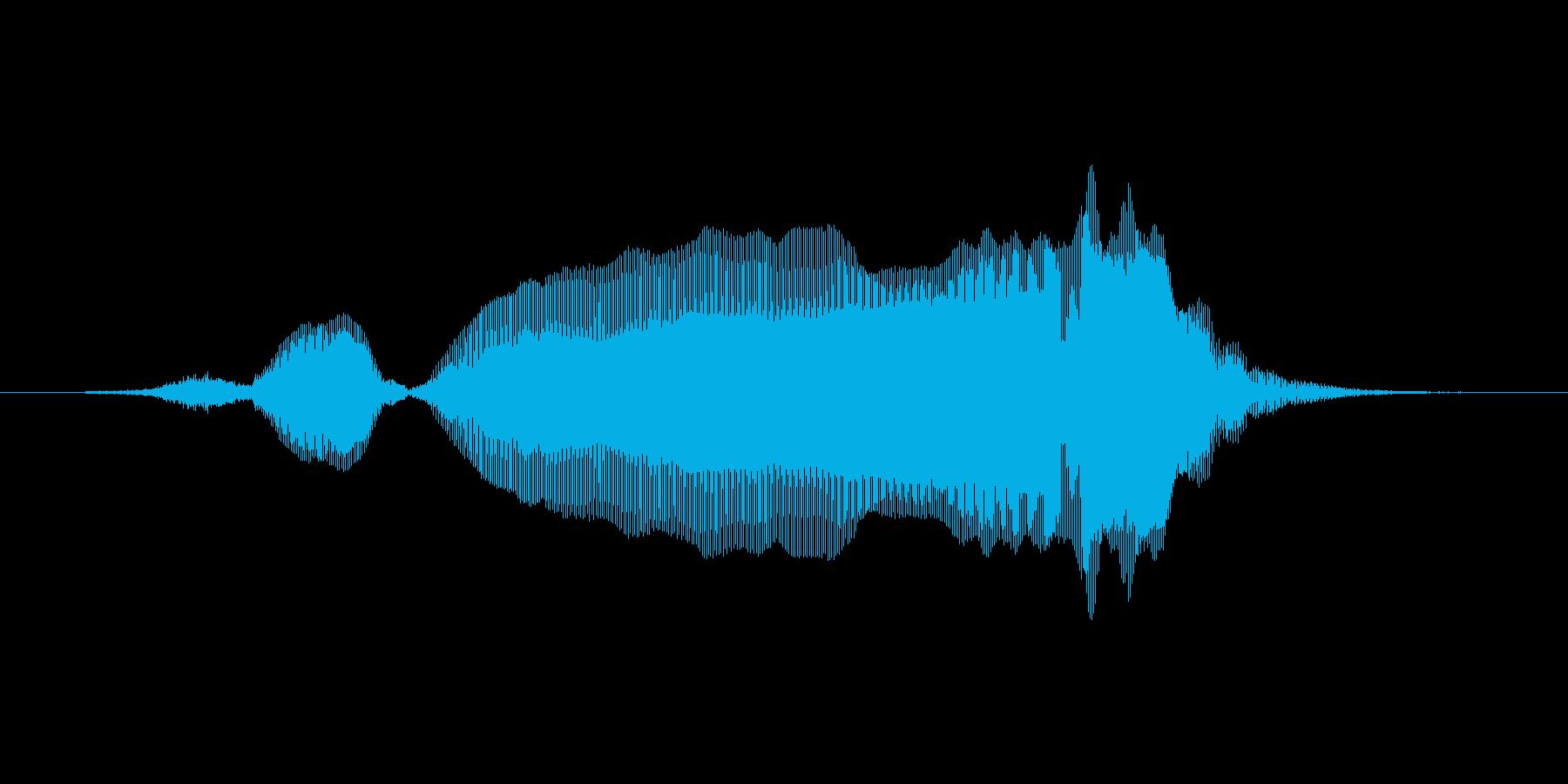すごーいの再生済みの波形