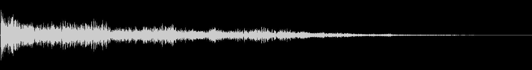 ディープエリードラムインパクトの未再生の波形