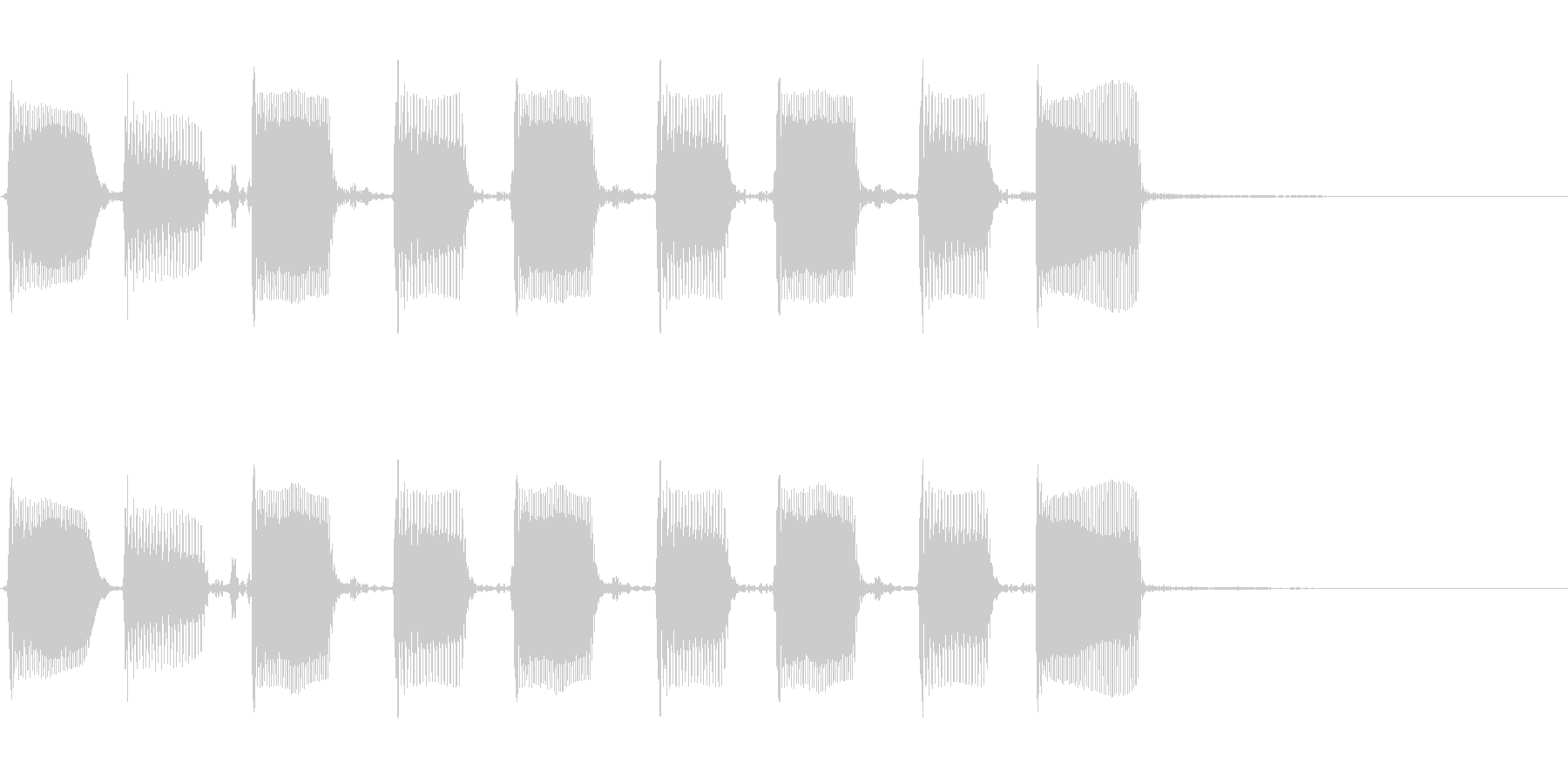 エレクトリックベース:ツートーンア...の未再生の波形