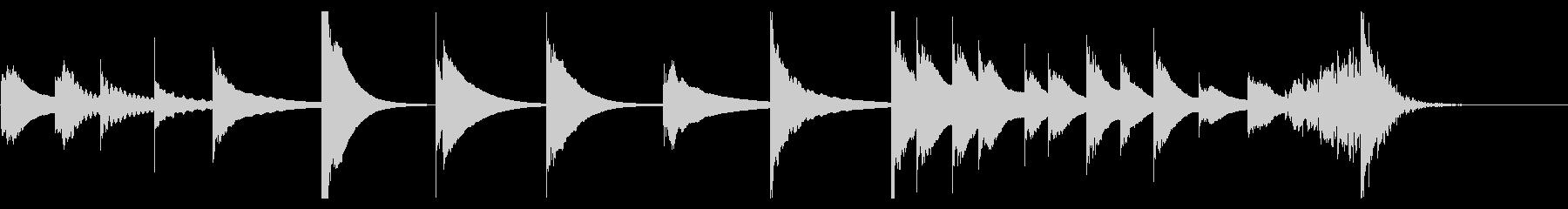 キシロフォン:アクセントの未再生の波形
