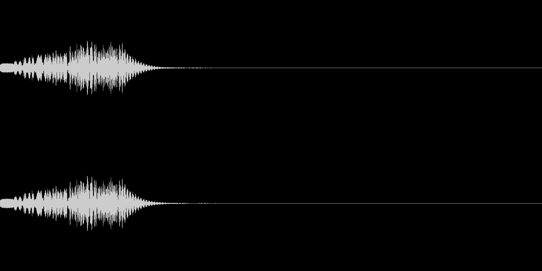 マリンバ(木琴)のグリッサンド音です。の未再生の波形