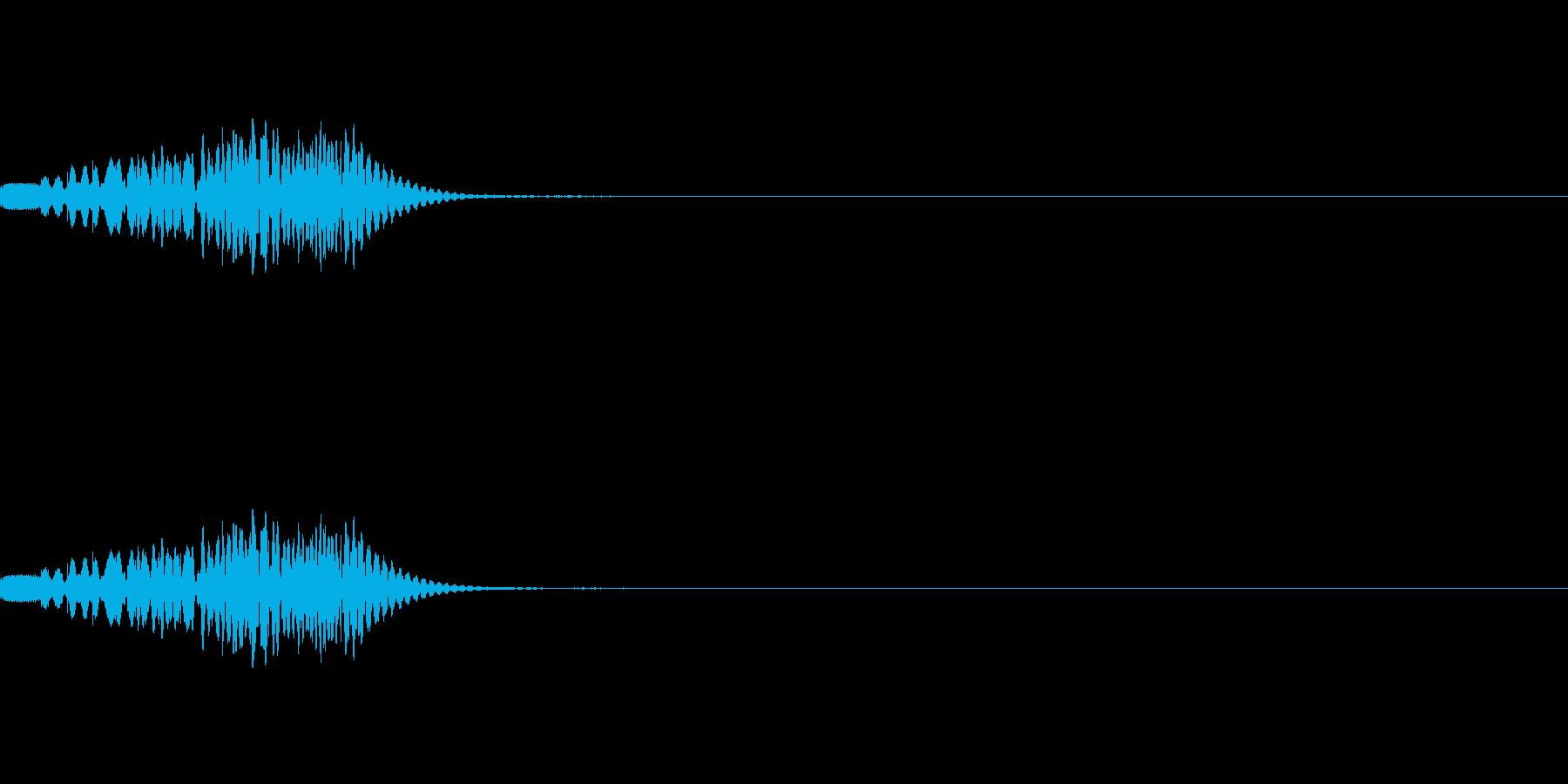 マリンバ(木琴)のグリッサンド音です。の再生済みの波形