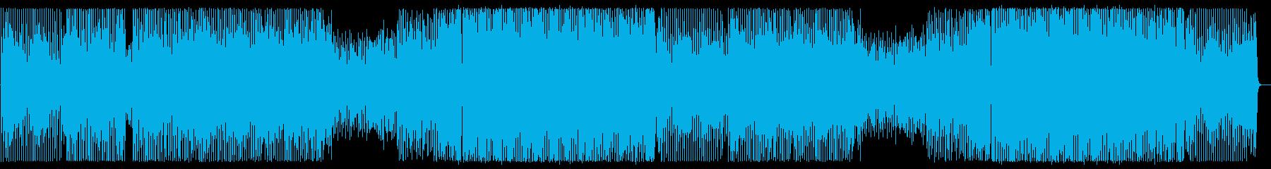 アップテンポなテクノポップの再生済みの波形