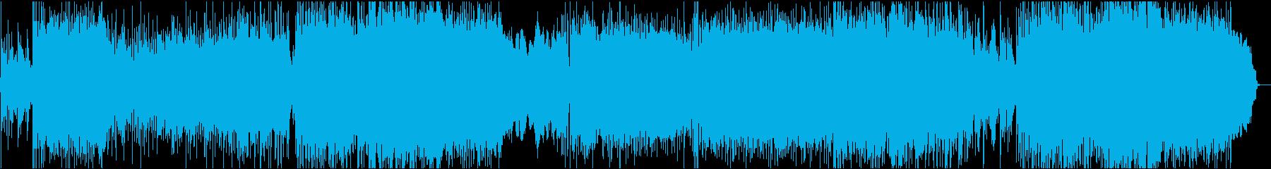 壮大なストリングスが特徴のロックバラードの再生済みの波形