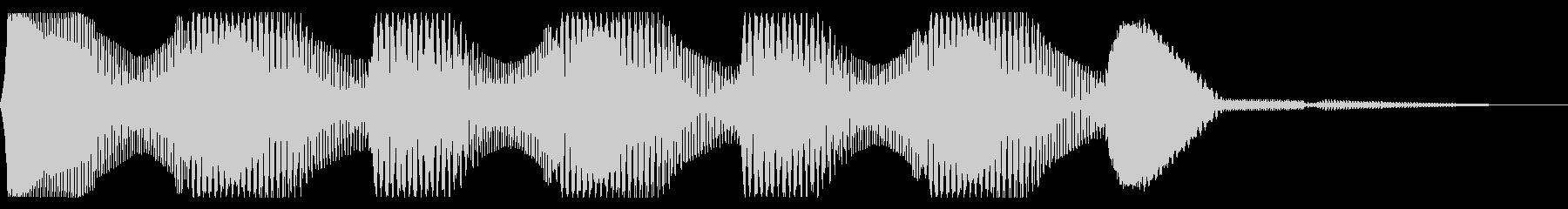レトロなクイズ正解音 ピンポン3回 合格の未再生の波形