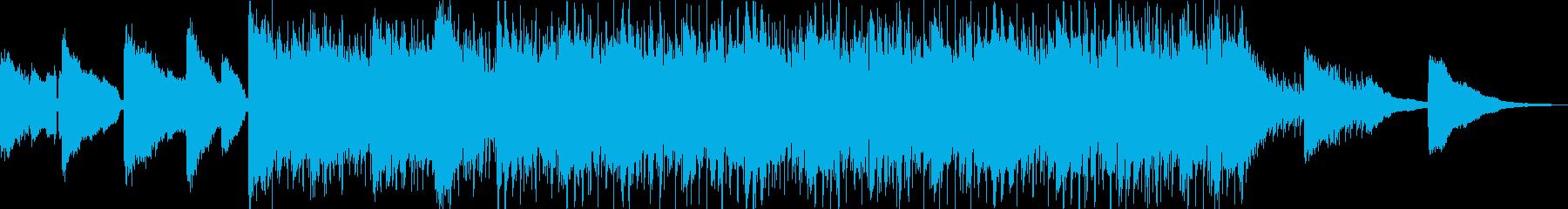 ギターアルペジオとエレピが印象的なBGMの再生済みの波形
