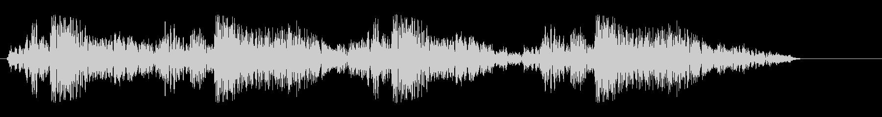 グギャグギャ(密林での動物の鳴き声)の未再生の波形