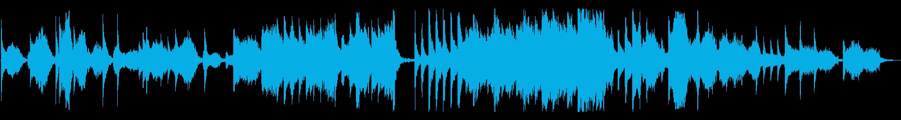 弦楽+ピアノのスローな鎮魂歌の再生済みの波形