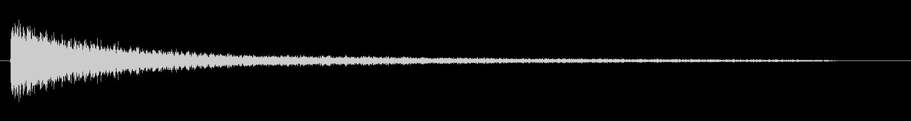 ピアノ効果音 ガーン ショック 衝撃の未再生の波形