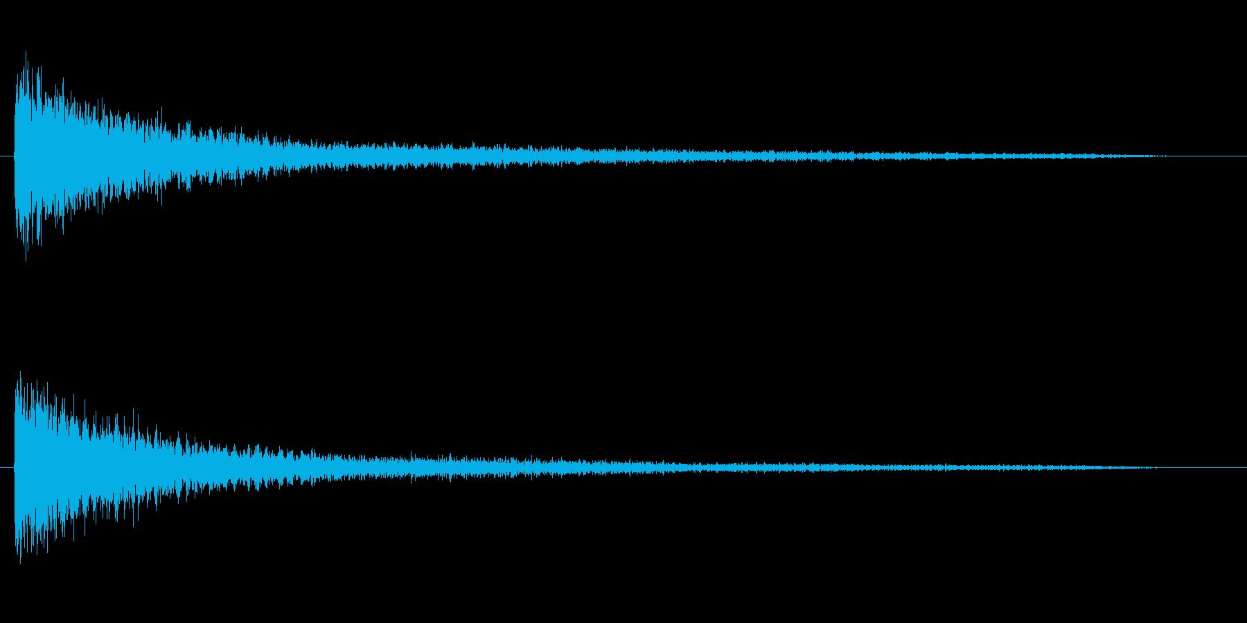 ピアノ効果音 ガーン ショック 衝撃の再生済みの波形