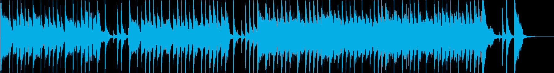 シンセがワクワク感をあおる短い曲の再生済みの波形