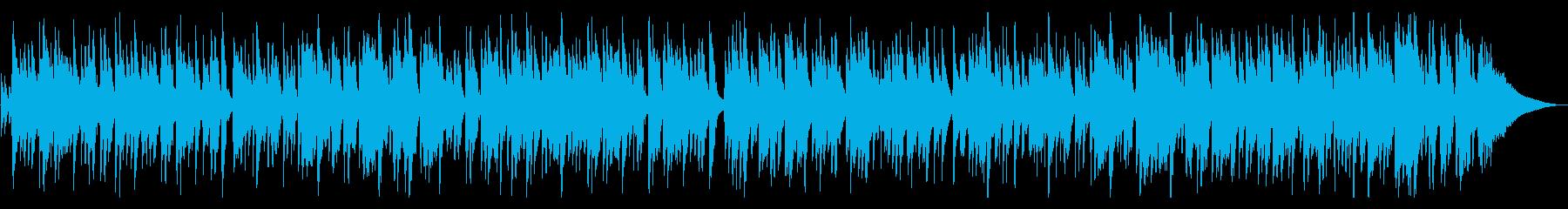 リラックスできる綺麗なピアノ曲の再生済みの波形