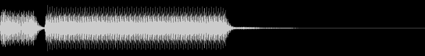 【クイズ】不正解の音,はずれ,ブッブー②の未再生の波形