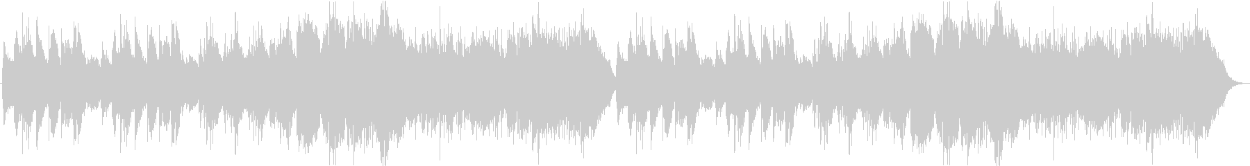 穏やかなケルト曲の未再生の波形
