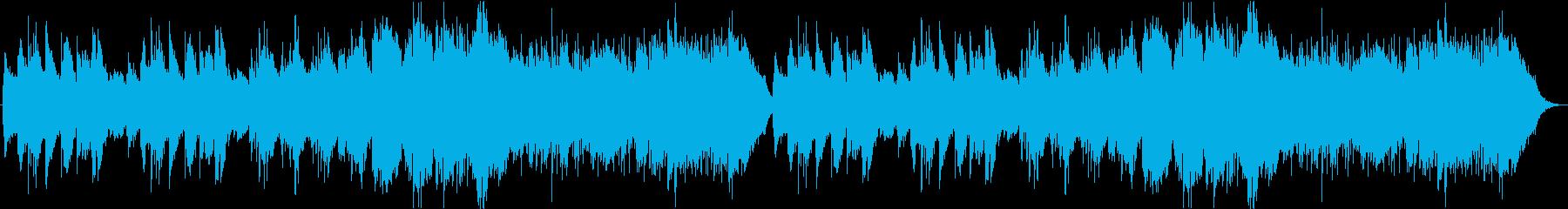 穏やかなケルト曲の再生済みの波形