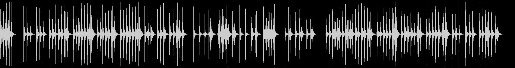 さくらさくら 三味線ソロの未再生の波形