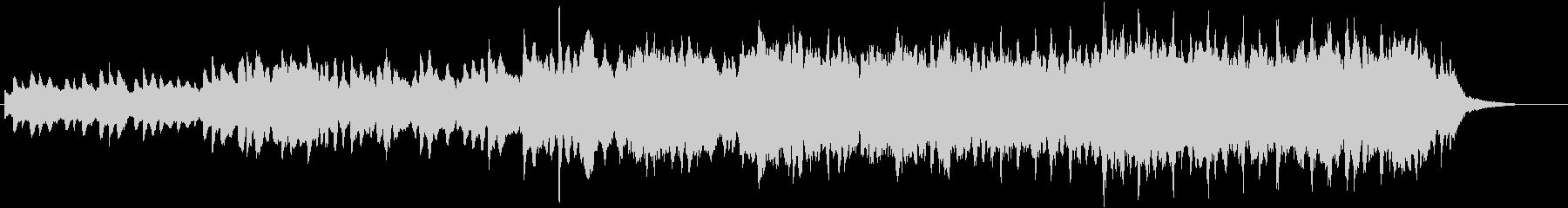 ピアノとパッドのアンビエント途中金属打音の未再生の波形