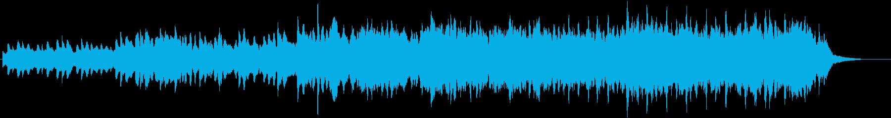 ピアノとパッドのアンビエント途中金属打音の再生済みの波形