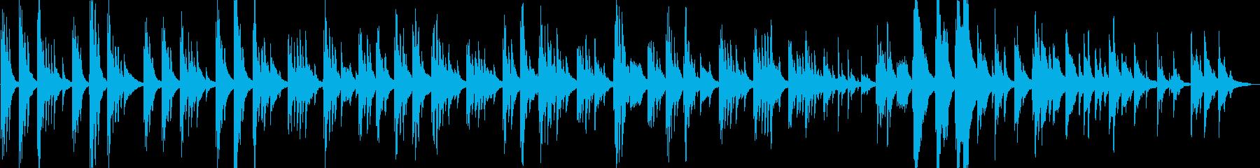 美しい消えそうなスローなピアノの曲の再生済みの波形