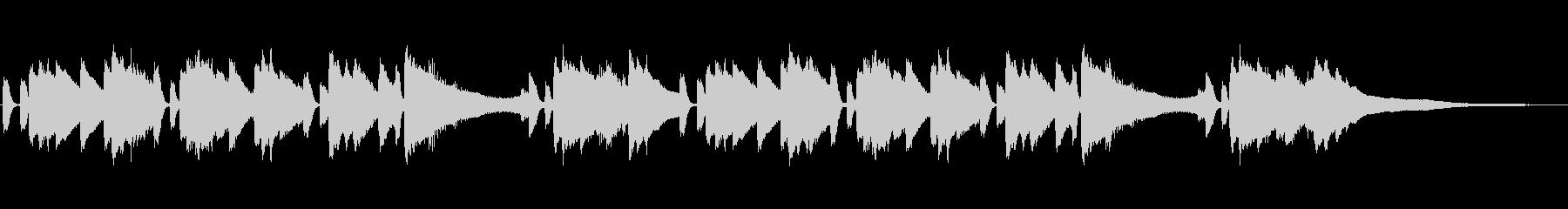 悲しい雰囲気の短三和音で演奏したピアノの未再生の波形
