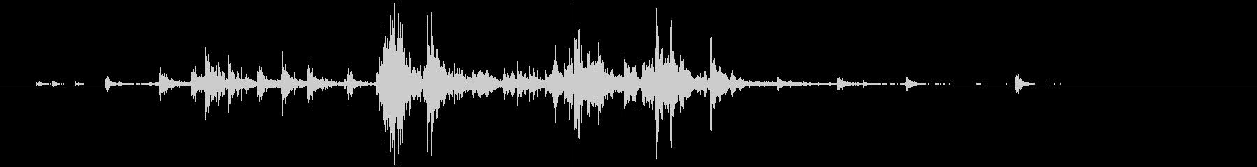 【生録音】ハンガーの音 2 かき分けるの未再生の波形