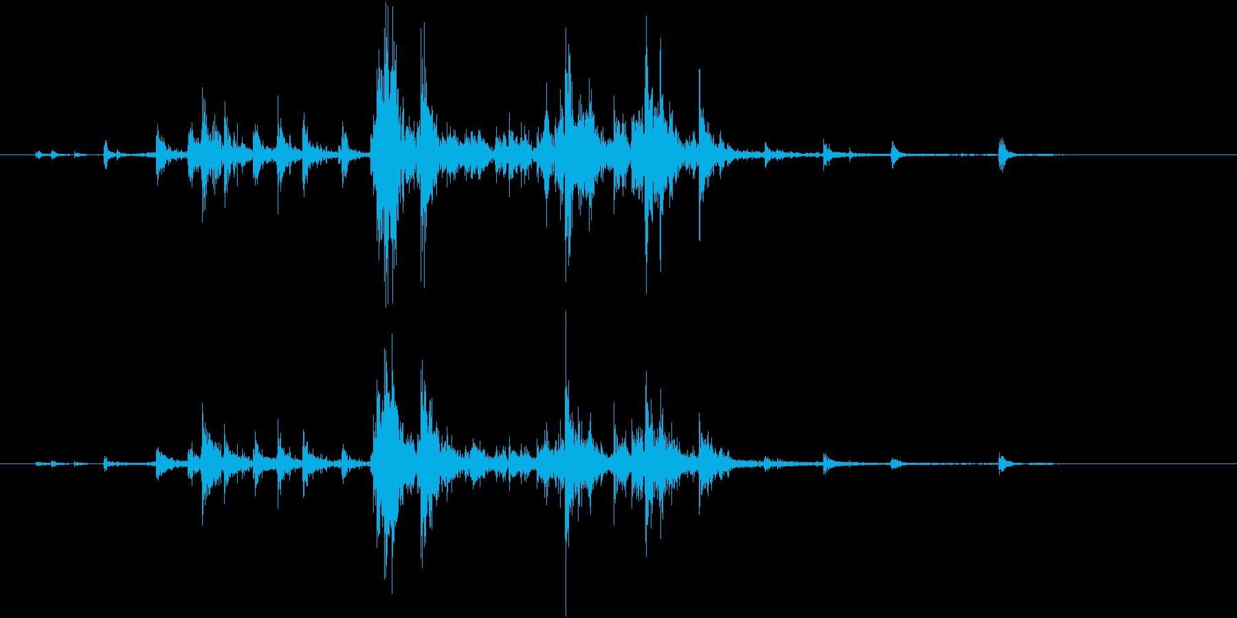 【生録音】ハンガーの音 2 かき分けるの再生済みの波形