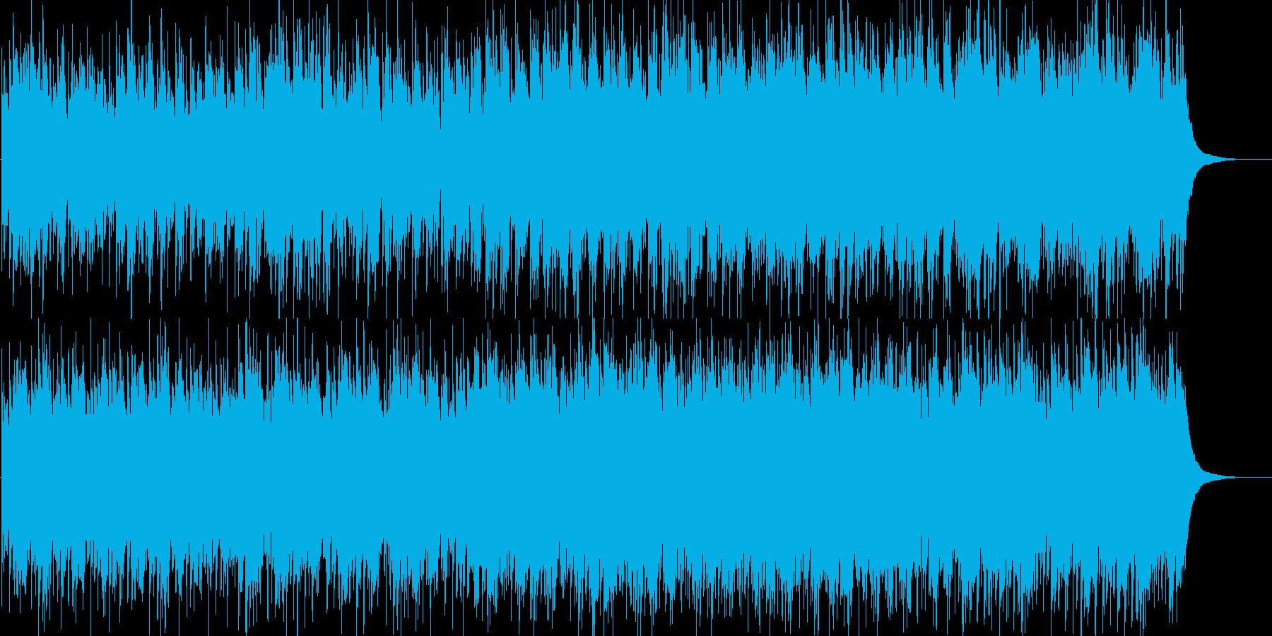 琴とクワイアの不思議な和風曲の再生済みの波形