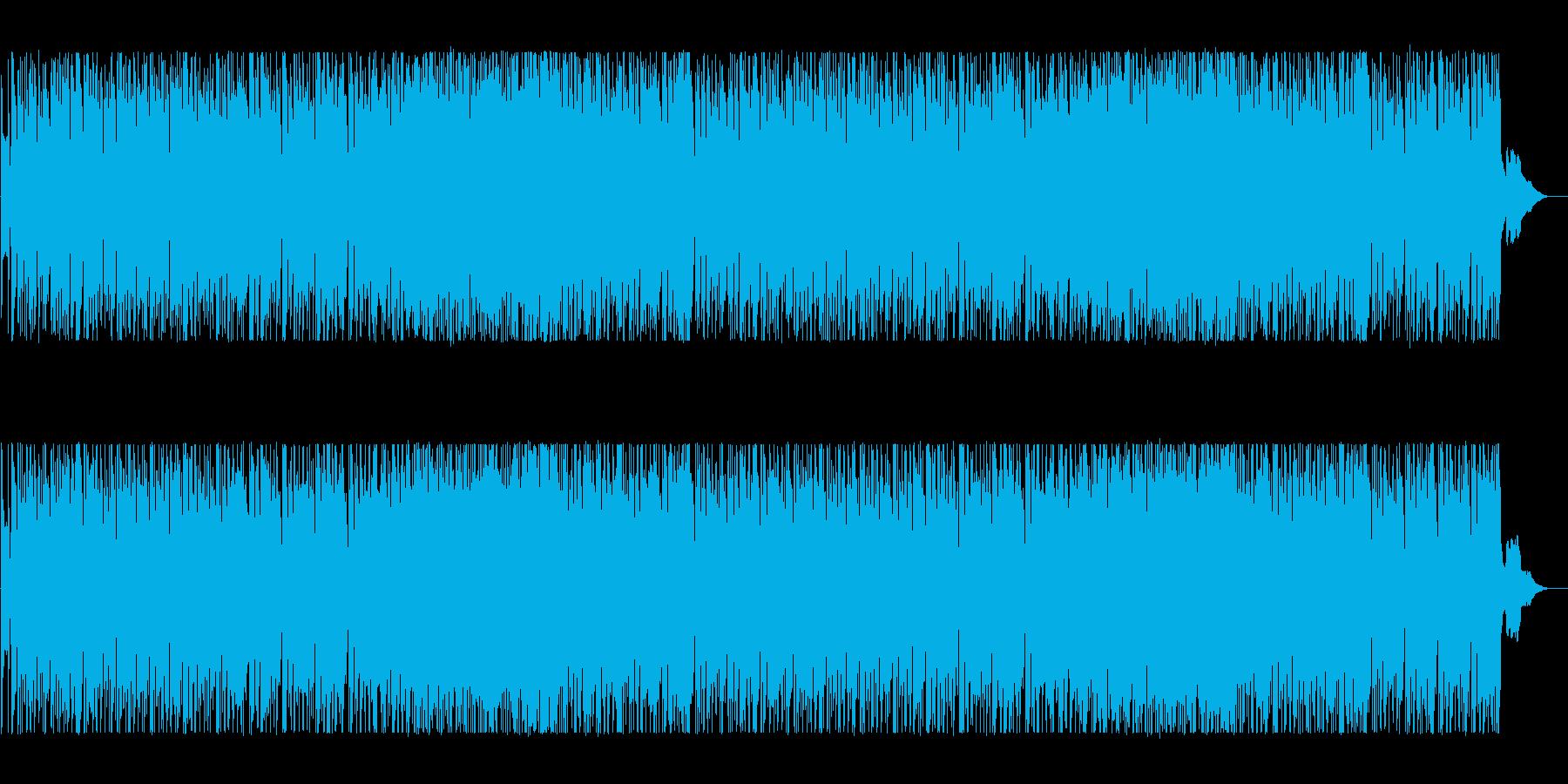 落ち着いたポップBGMの再生済みの波形