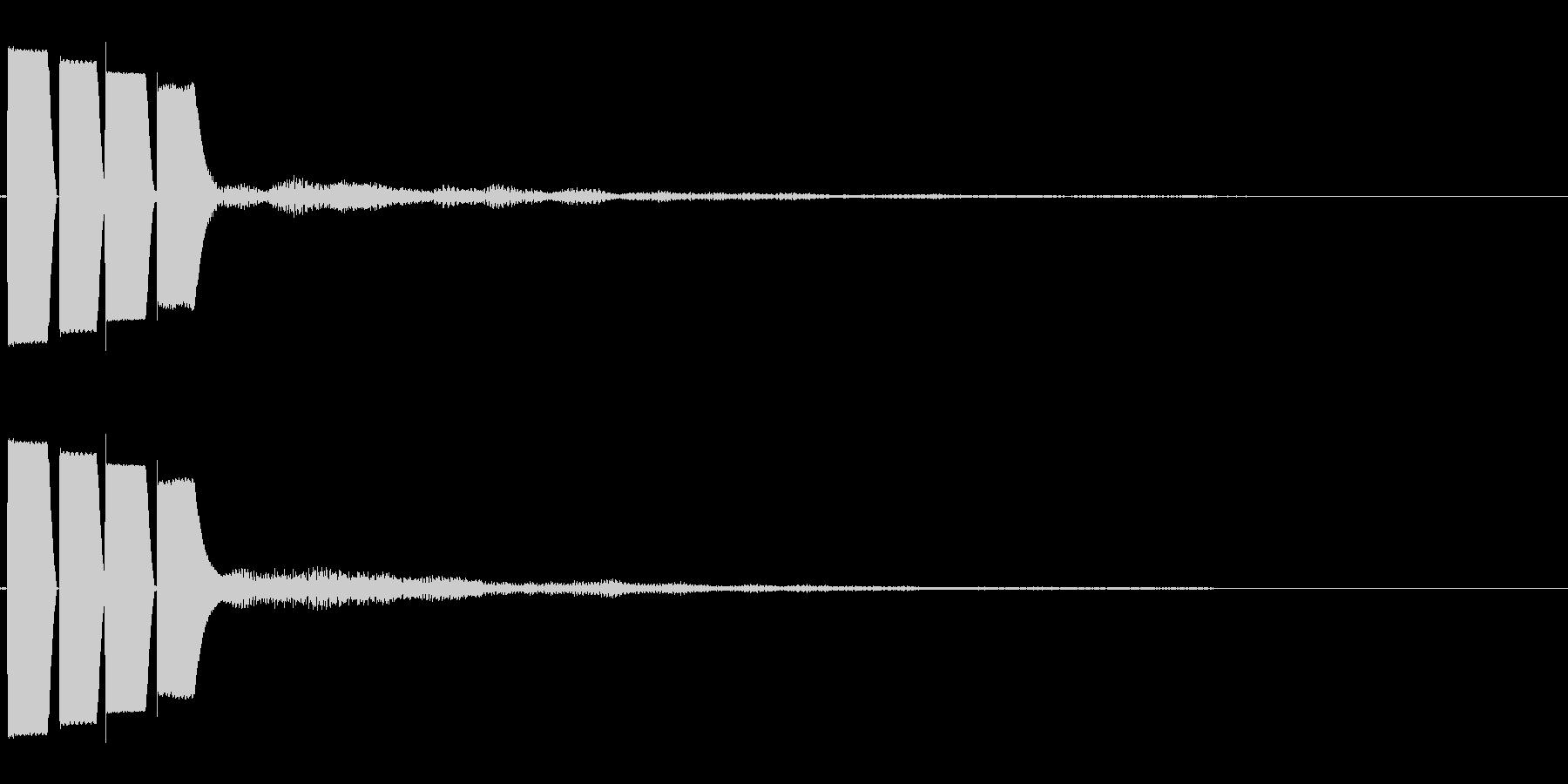 決定音/ボタン/システム/シンプル E3の未再生の波形