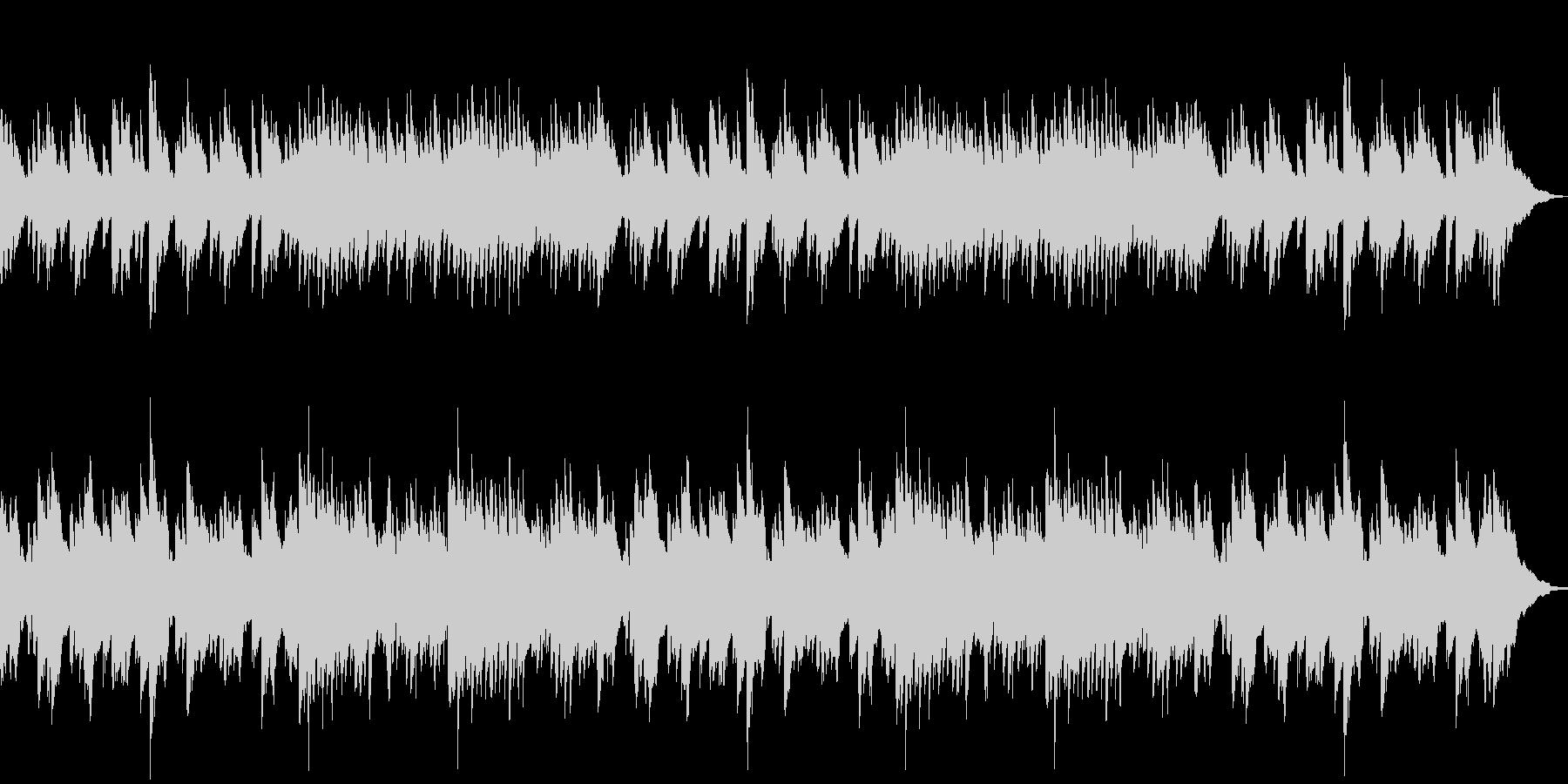切ない別れシーン用ピアノバラードの未再生の波形