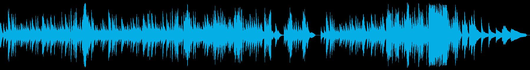 穏やかなピアノワルツの再生済みの波形