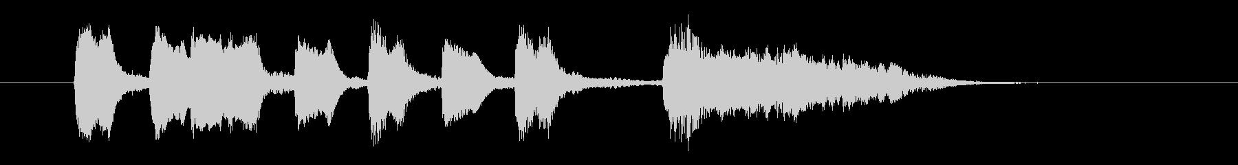 ジングル用BGM(ミス&コミカルな失敗)の未再生の波形