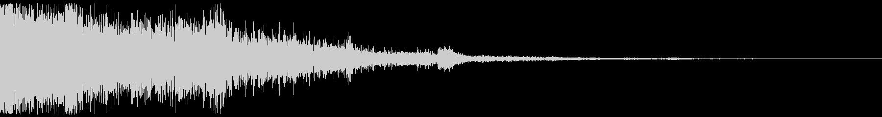 氷魔法 攻撃音 の未再生の波形