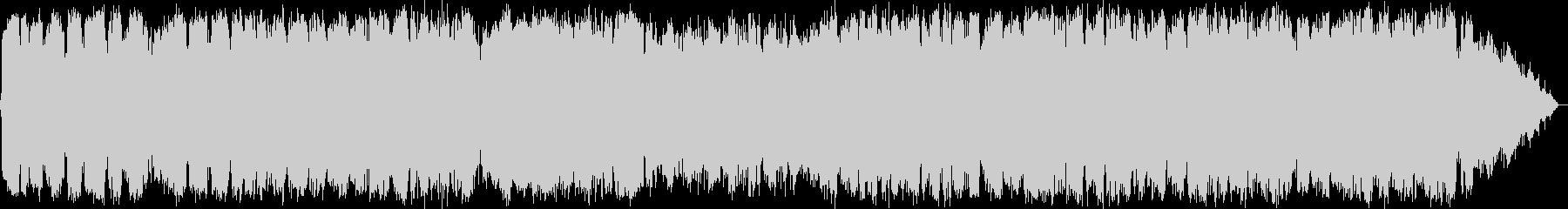 幻想的な笛の音楽の未再生の波形